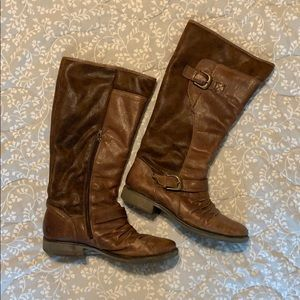 BareTraps brown leather boots